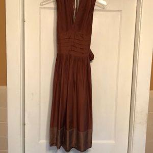 Bcbgmaxazria silk dress nwot